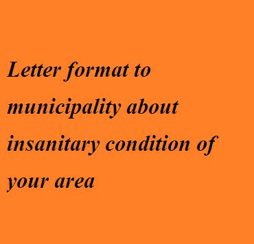 Write a letter to the mayor