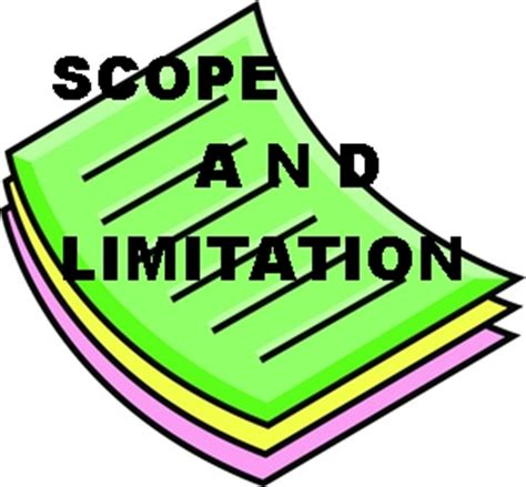 Limitations section in dissertation